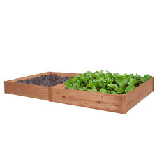 Raised Garden Bed Kit Planter Vegetable Flower Box Elevated Grow Gardening Cedar