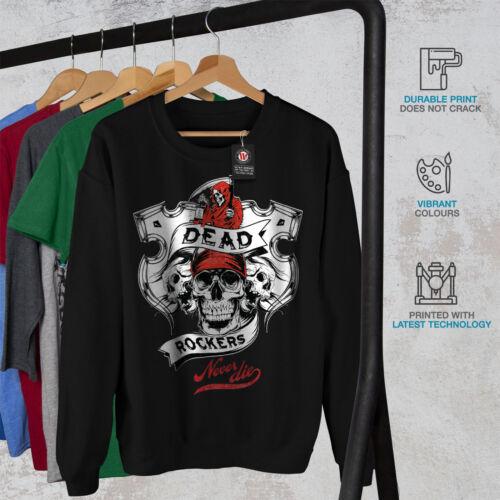 Rockers Negro Skull Hombres Grim Sudadera Dead Nuevo daqwTdn