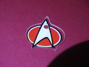 Pinball Promo small Plastic Original Star Trek key fob ring flipper