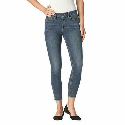 Women/'s JESSICA SIMPSON High Rise Skinny Ankle Fray Hem Jean VARIETY E23 SALE