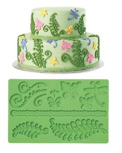 """Humor Wilton:conception De Gâteau Fondant Moule """"feuilles"""" Moule Silicone Clear-Cut Texture Other Baking Accessories Kitchen, Dining & Bar"""