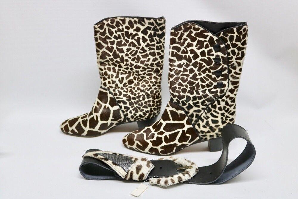 prezzi più bassi Scarpe Scarpe Scarpe da donna vero cuoio rive GAUCH Stivali GIRAFFE dimensioni 38 mai usato  alto sconto