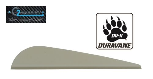 "Pkg 100  ***When Accuracy Counts*** 3.0/"" DV-II Duravane Vanes White"