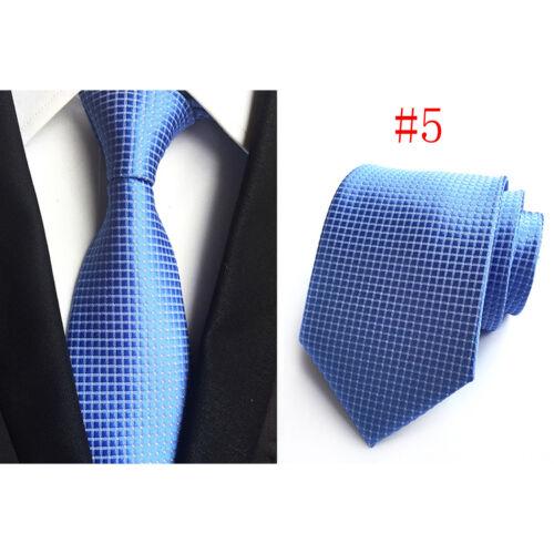 Fashion Men/'s Tie Polka Dot Soild Color Classic Silk Necktie For Wedding Party
