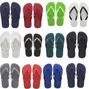 3ee812f20eaf46 Havaianas Top Unisex Rubber Flip Flops Red Beach Sandals UK Size 3 ...