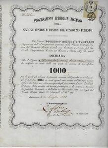 1858 CAVARZERE * PROSCIUGAMENTO ARTIFICIALE MECCANICO CONSORZIO FORESTO - Italia - 1858 CAVARZERE * PROSCIUGAMENTO ARTIFICIALE MECCANICO CONSORZIO FORESTO - Italia