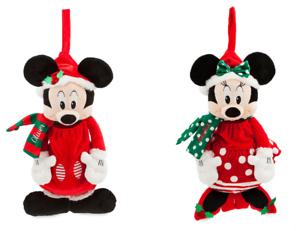 Disney-Store-Minnie-Mickey-Mouse-Peluche-Chaussette-de-Noel-Rouge-2018