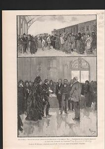 BELGIQUE-DEMANDE-GRACE-CONDAMNES-EMEUTES-OUVRIERES-1886-GRAVURE-ANTIQUE-PRINT