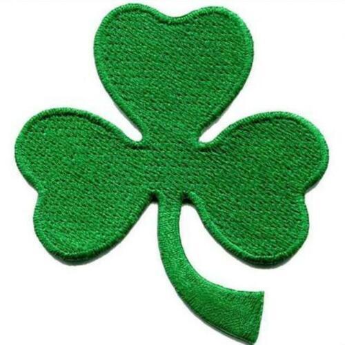 Clover Patch Irish Embroidered Biker Shamrock Green Iron Lucky Leaf Ireland Gift