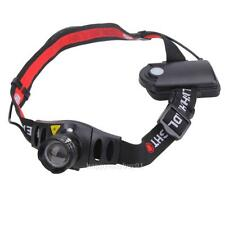 1200 Lumen Cree Q5 Led Head Lamp Zoomable Hunting Flashlight Torch Rechargeable