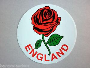 ENGLAND-Round-Sticker-English-Rose-Car-Sticker-Decal-Gift-or-Souvenir