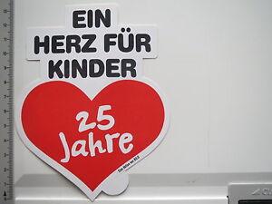 Details Zu Aufkleber Sticker Bild Aktion Ein Herz Für Kinder 25 Jahre 6452