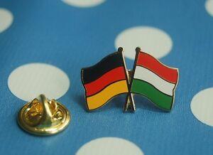 Freundschaftspin-Deutschland-Ungarn-Pin-Button-Badge-Anstecker-Anstecknadel