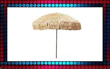 NEW 8' Hula Patio Beach Umbrella & Bag Hawaiian Tiki Thatch Canopy Outdoor Decor