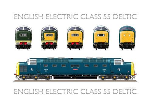Class 55 Deltic Print Version 5-55015 /'Tulyar/'