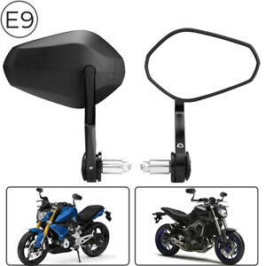 Universal 7 8 Handle Bar End Mirrors Motorcycle Sportbike For Bmw Ktm Ducati Ebay