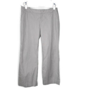 Banana Republic Women's Martin Fit Dress Pants Gray Career Work 12 Petite 12P