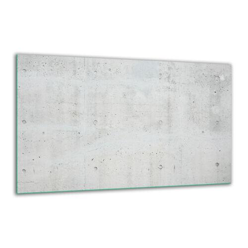 Herdabdeckplatte Ceran 1 Pcs 80x52 Abstrait Blanc Couvercle verre Anti-projections