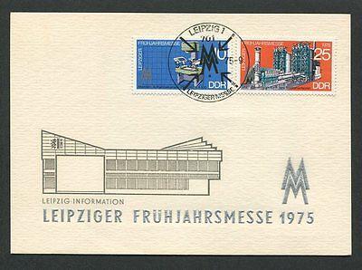 Treu Ddr Mk 1975 Leipziger Messe Maximumkarte Carte Maximum Card Mc Cm D8606 Hell Und Durchscheinend Im Aussehen Briefmarken Diverse Philatelie