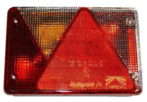 ASPÖCK Heckleuchte Anhänger Glas links ASP Multipoint 4 18 8484 007
