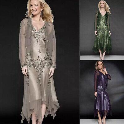 Women\'s Tea Length Mother of the Bride/Groom Wedding Guest Dresses Plus  Size | eBay