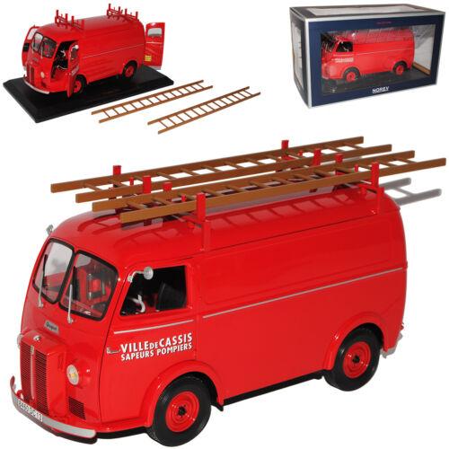 Peugeot d3 Transporter d3 rojo pompier bomberos 1946-1955 1//18 norev modelo coche