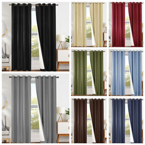 Details about Blackout Curtains for Bedroom Window Curtain Thermal  Insulated Drapes 1 Panel