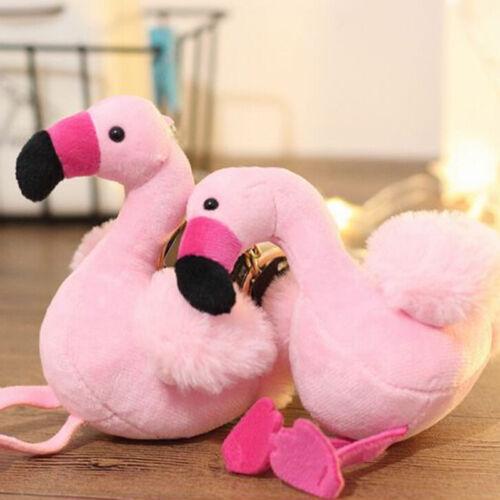 Schöne flamingo plüschtier schlüsselbund ring anhänger stofftier schlüsselWQ