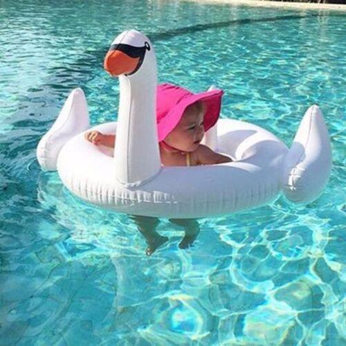 Unicorn//Flamingo//White Swan Baby Kids Inflatable Swimming Aid Trainer Seat Ring