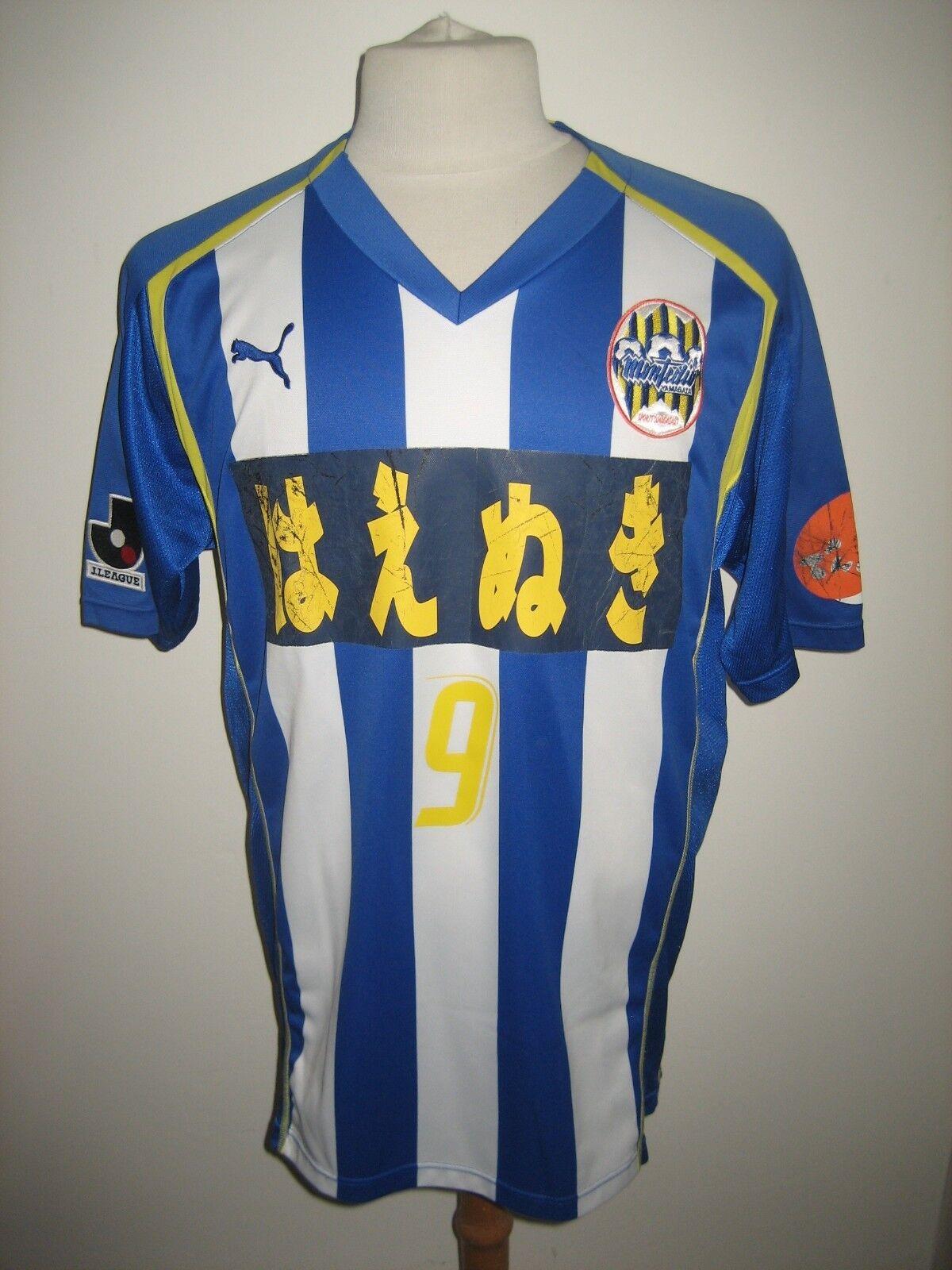 Montedio Yamagata MATCH WORN Japan footbtutti shirt soccer jersey maillot Diuominiione XL