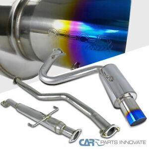 For 05-10 Scion tC Titanium Burnt Tip Stainless Steel Catback Exhaust Muffler