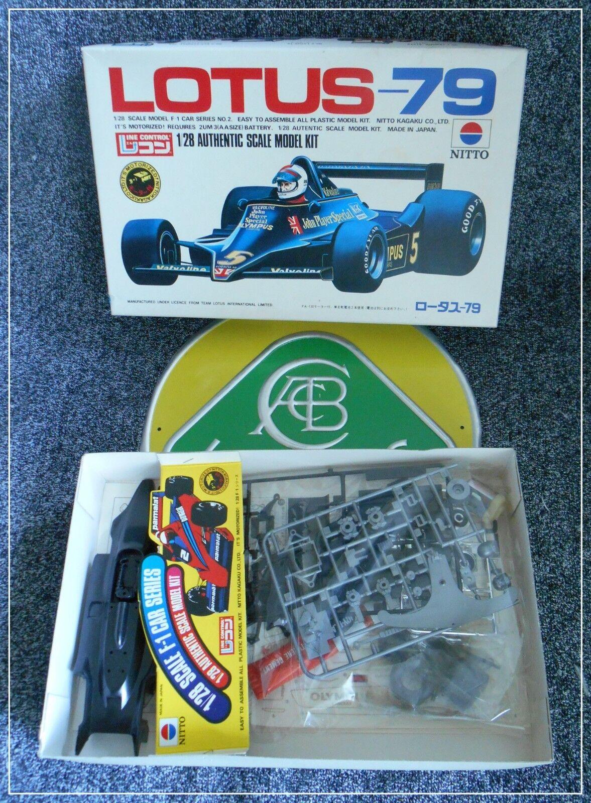 Lotus 79 Plastic Kit Nitto 1 28 1 28 Motorized Mint Boxed Peterson Andretti