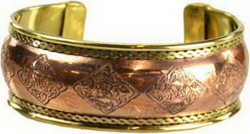 1 xCELTIC ENGRAVED COPPER BRACELET  Wicca Pagan Witch Goth Punk Jewellery Spell