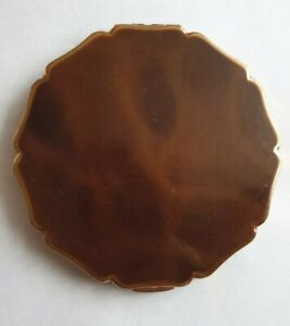 Vintage-Stratton-Faux-Tortoiseshell-Powder-Compact-Mirror-Made-in-England