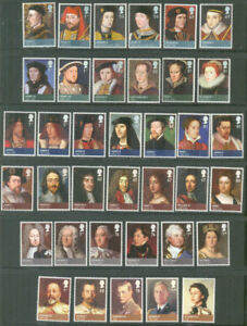 Kings-amp-Queens-Great-Britain-complete-set-mnh-Royalty-Art-Paintings-2008-12