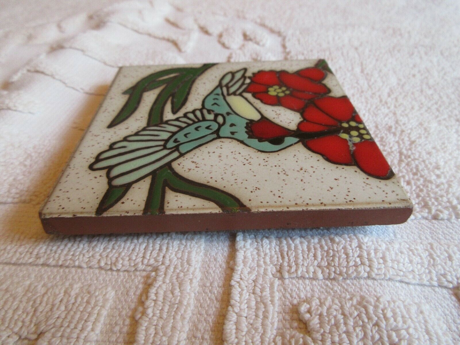 "Ceramic Tile , Wall Hang , Table Top , Vintage . 4""X4""X"