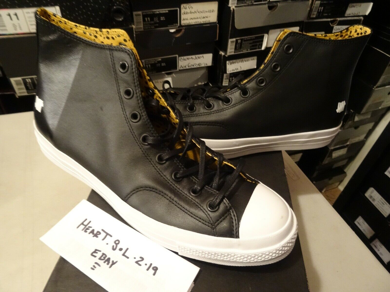 NEW Converse X Undefeated CT 1970 Hi nero oro ALL STAR LEATHER 148631C SZ 13