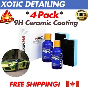 4Pack-9H-Nano-Ceramic-Car-Glass-Coating-Liquid-Hydrophobic-AntiScratch-Auto-Care