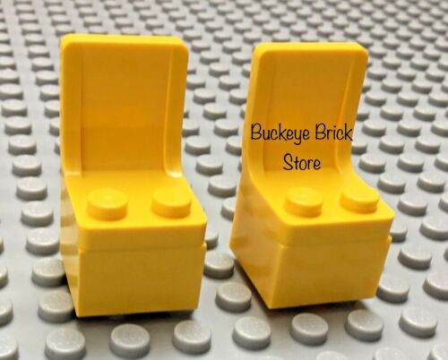 LEGO Minifig YELLOW CHAIR Lot of 2 Truck Car Seats New /& Used