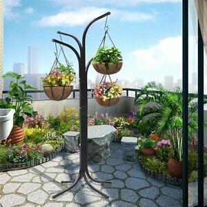 Plant Stand Hanging Garden Flower Pot Basket Balcony Deck