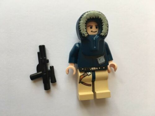 STAR WARS LEGO MINI FIGURE HOTH HAN SOLO AUTHENTIC FROM 7749 ECHO BASE SET@@@@@@