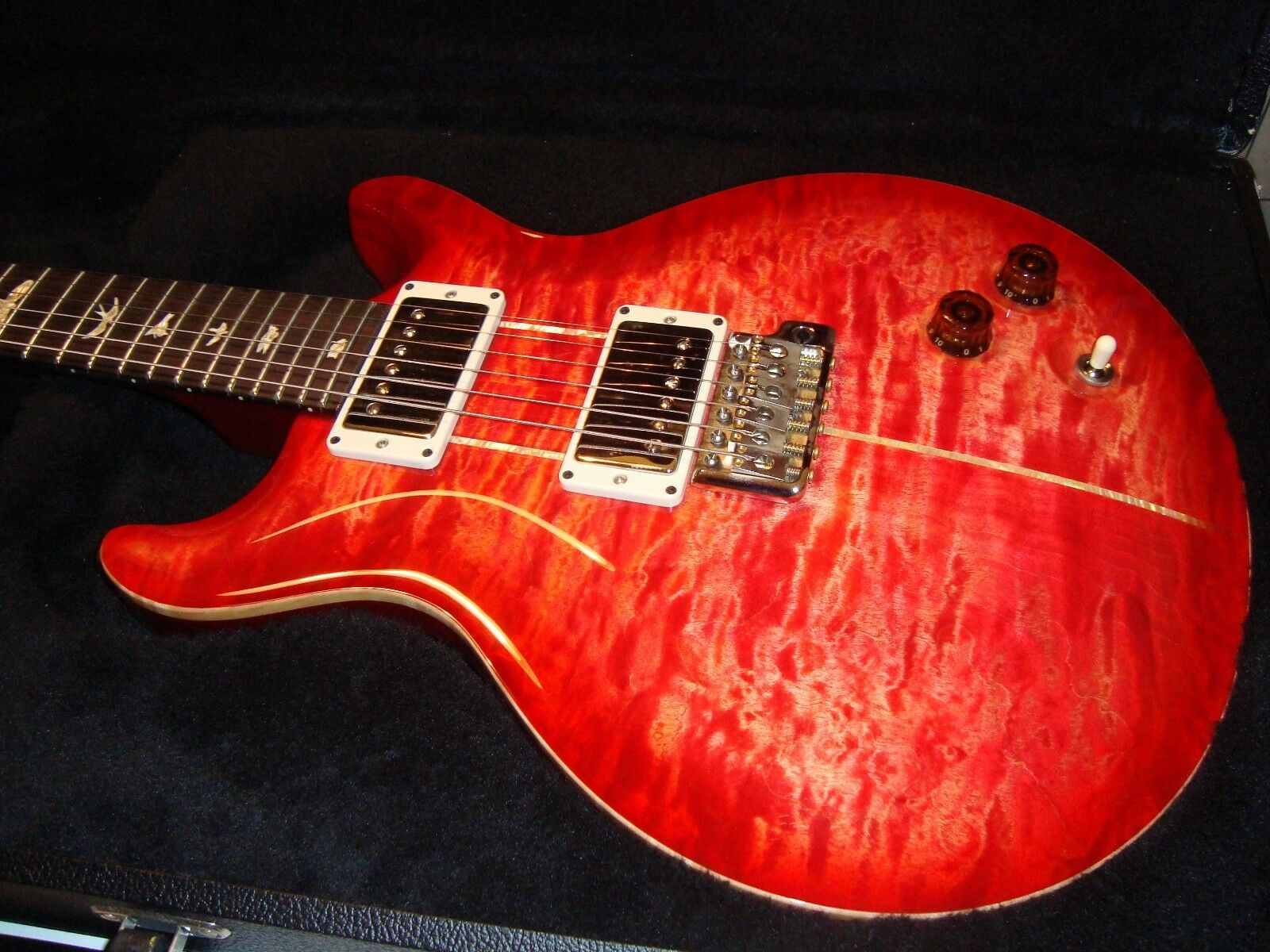 PRS Santana BO (blood Orange) guitar  not SE