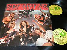 SCORPIONS World Wide Live / India DoLP 1985 EMI REC. HARVEST EN 240343/44