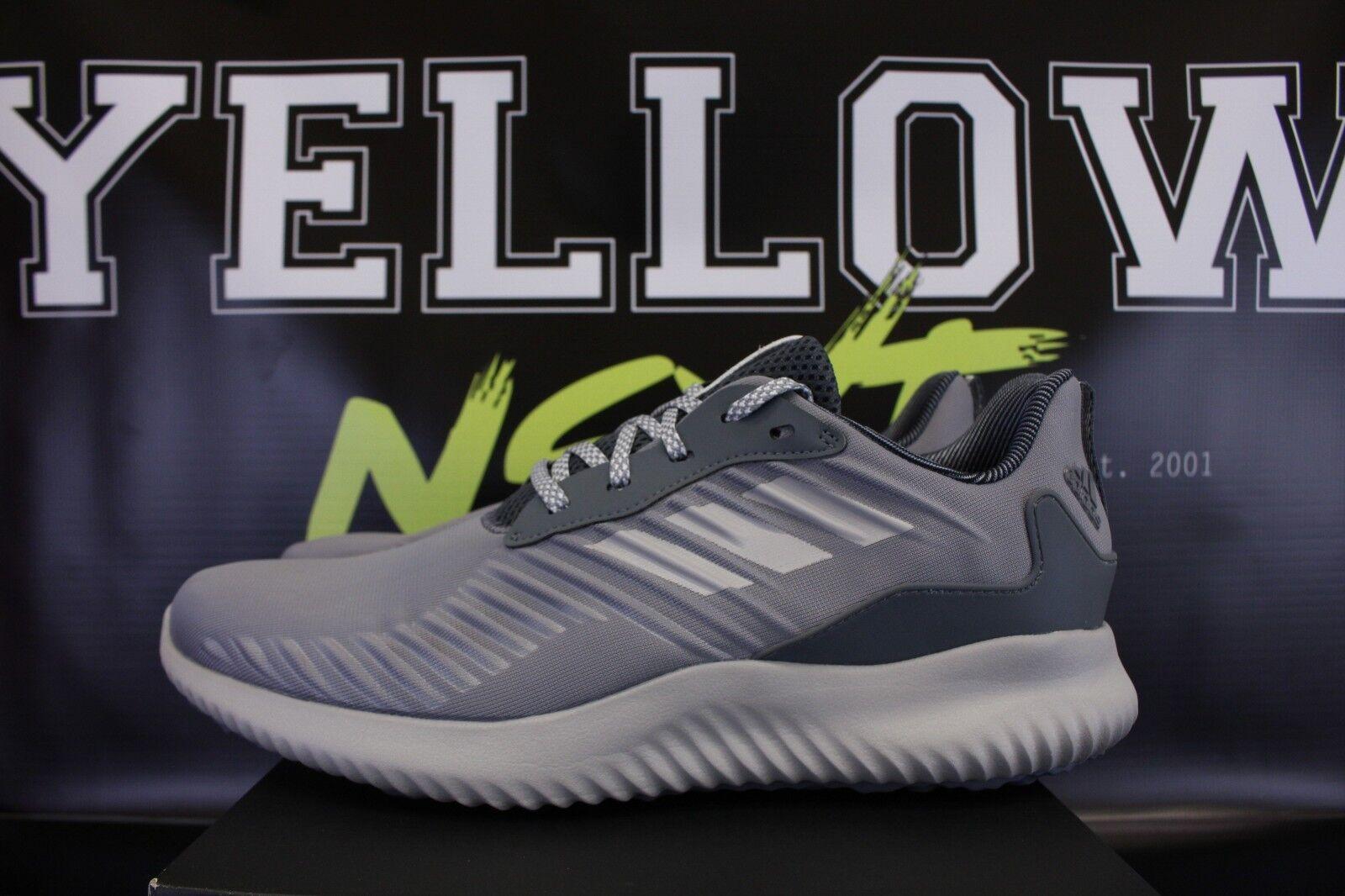 ADIDAS ALPHABOUNCE RC SZ 11.5 HEATHER Gris Noir Blanc RUNNING Chaussures BW0693