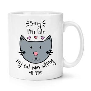 Sorry-I-039-M-Late-My-Cat-Anciennement-Assis-Sur-Me-284ml-Tasse-Drole-Crazy-Lady