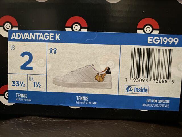 New In box Tag Adidas Pokemon Advantage K Sneakers Tennis Pikachu EG1999 Shoes