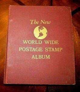 CatalinaStamps-The-New-World-Wide-Stamp-Album-Minkus-1954-414-Stamps-D67