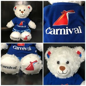 Build-A-Bear Workshop Carnival Cruise Lines White Teddy ...
