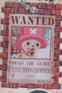 One Piece Chopper Wanted Poster Key Chain Anime NEW