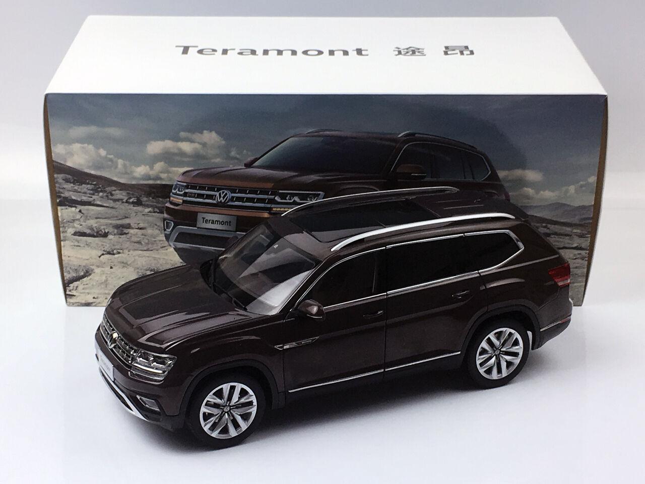 1 18 Volkswagen Teramont SUV brun tärningskast Metal modelllllerler Bil